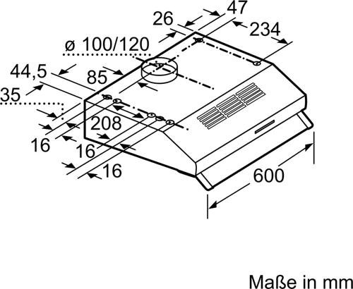 Okap podszafkowy BOSCH DUL63CC50