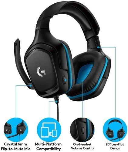 Słuchawki przewodowe LOGITECH G432