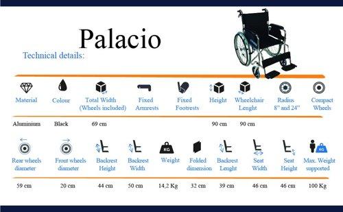 Wózek inwalidzki MOBICLINIC Palacio