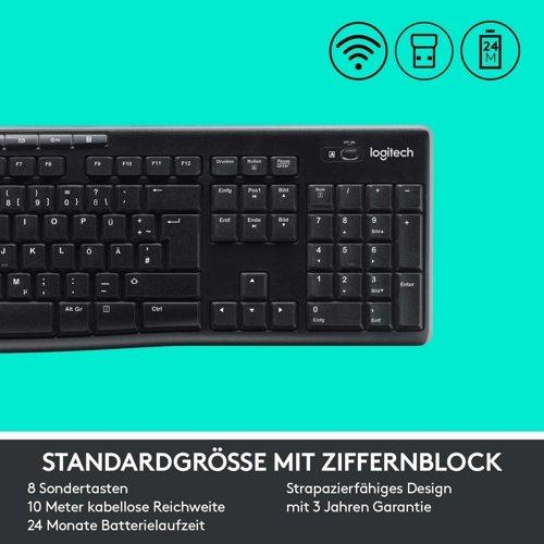 Zestaw klawiatura i mysz LOGITECH Wireless Combo MK270 QWERTZ